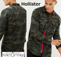 Hollister Co. Pullovers Camouflage Long Sleeves Cotton Shirts