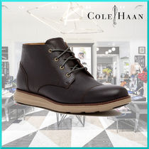 Cole Haan Straight Tip Plain Leather Chukkas Boots