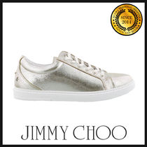 Jimmy Choo Studded Plain Leather Sneakers