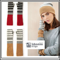 Johnstons Stripes Casual Style Cashmere Gloves Gloves