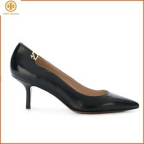 Tory Burch Casual Style Plain Leather High Heel Pumps & Mules