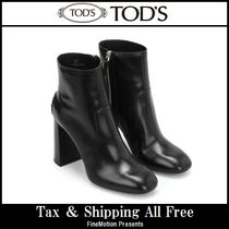 TOD'S Plain Leather High Heel Boots