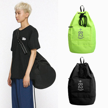 Unisex Street Style 2WAY Plain Messenger & Shoulder Bags