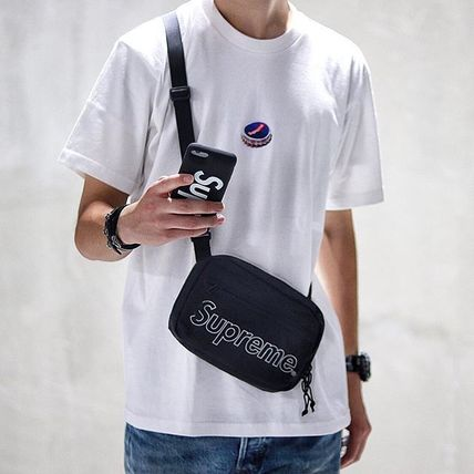 Supreme 2018 19aw Uni Street Style Plain Messenger Shoulder Bags By Lebirthday Ma