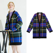 STEREO VINYLS COLLECTION Tartan Casual Style Unisex Street Style Collaboration