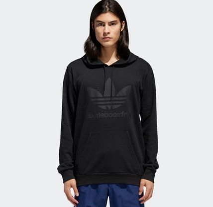 adidas Hoodies Unisex Street Style Long Sleeves Plain Cotton Hoodies 6