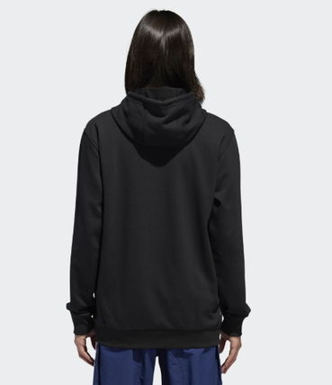 adidas Hoodies Unisex Street Style Long Sleeves Plain Cotton Hoodies 7