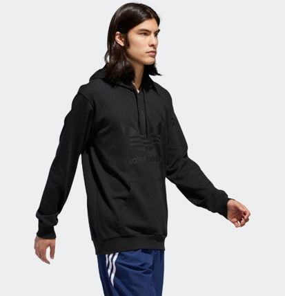 adidas Hoodies Unisex Street Style Long Sleeves Plain Cotton Hoodies 8