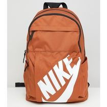 Nike Unisex Canvas Street Style A4 Bi-color Plain Backpacks