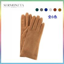 Sermoneta gloves Cashmere Plain Gloves Gloves