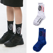 A PIECE OF CAKE Unisex Street Style Plain Cotton Socks & Tights
