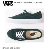 VANS AUTHENTIC Unisex Suede Street Style Plain Deck Shoes Khaki