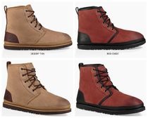 UGG Australia HARKLEY Bi-color Plain Leather Boots