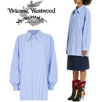 Vivienne Westwood Casual Style Unisex Plain Cotton Long Super-long Sleeves