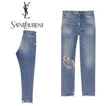 Saint Laurent Casual Style Cotton Wide & Flared Jeans