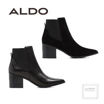 ALDO Plain Leather Oversized Elegant Style Chunky Heels