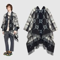 GUCCI Monogram Wool Street Style Ponchos & Capes