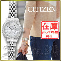 CITIZEN Round Quartz Watches Stainless With Jewels Analog Watches