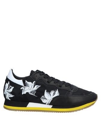Flower Patterns Street Style Leather Sneakers