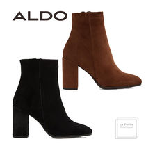 ALDO Open Toe Plain Leather Block Heels Oversized Elegant Style