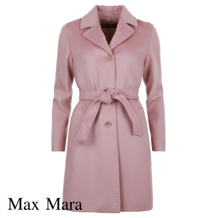 Wool Plain Medium Elegant Style Chester Coats