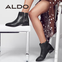 ALDO Round Toe Chain Plain Leather Oversized Elegant Style