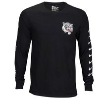 Nike Crew Neck Pullovers Street Style Long Sleeves Cotton