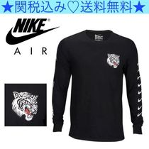 Nike Crew Neck Long Sleeves Plain Other Animal Patterns Cotton