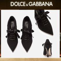 Dolce & Gabbana Sheepskin Plain Pin Heels Party Style Ankle & Booties Boots