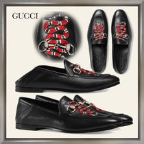 GUCCI Moccasin Plain Other Animal Patterns Leather U Tips