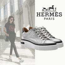 HERMES Platform Casual Style Street Style Plain Leather