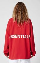 FEAR OF GOD ESSENTIALS Crew Neck Monogram Sweat Street Style Long Sleeves Plain