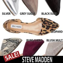 Steve Madden Plain Other Animal Patterns Elegant Style Slip-On Shoes