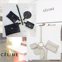 CELINE Unisex Plain Leather Keychains & Bag Charms