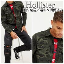 Hollister Co. Camouflage Long Sleeves Cotton Shirts