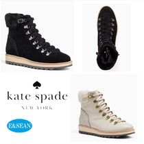 kate spade new york Mountain Boots Round Toe Rubber Sole Leather Outdoor Boots