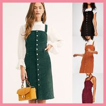 Free People Short Casual Style Tight Sleeveless Plain Cotton Dresses