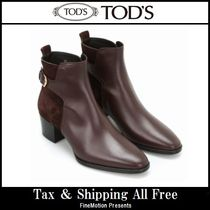 TOD'S Blended Fabrics Plain Leather Handmade Elegant Style
