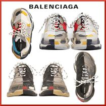 BALENCIAGA Triple S Blended Fabrics Street Style Sneakers