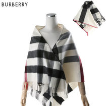Burberry Other Check Patterns Cashmere Elegant Style