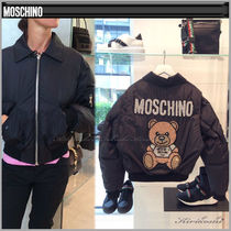 Moschino Short Plain Other Animal Patterns Jackets