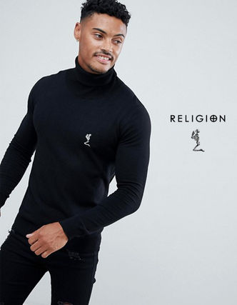 Pullovers Skull Street Style Long Sleeves Knits & Sweaters