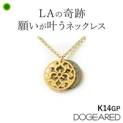 Dogeared Casual Style Flower Silver 14K Gold Necklaces & Pendants
