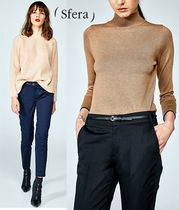 Sfera Plain Cotton Long Office Style Cropped & Capris Pants