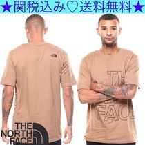 THE NORTH FACE Crew Neck Pullovers Plain Cotton Short Sleeves
