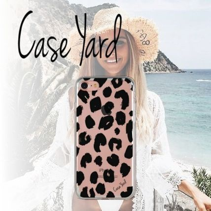 Leopard Patterns Unisex Blended Fabrics Smart Phone Cases