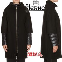 HERNO Wool Plain Down Jackets