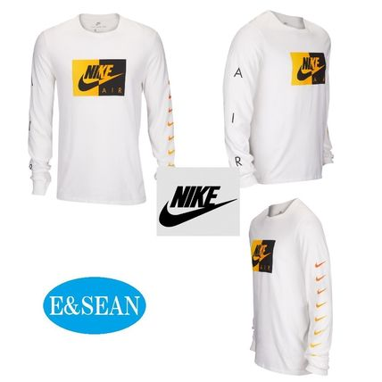Nike Long Sleeve Crew Neck Street Style Long Sleeves Plain Cotton