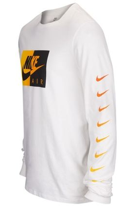 Nike Long Sleeve Crew Neck Street Style Long Sleeves Plain Cotton 3