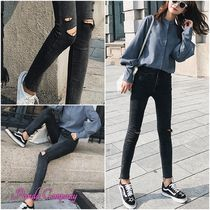 Casual Style Denim Long Skinny Jeans